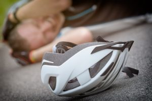 compensation for cycling without a bike helmet