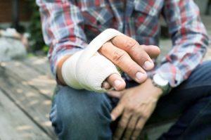 Tendon injury at work