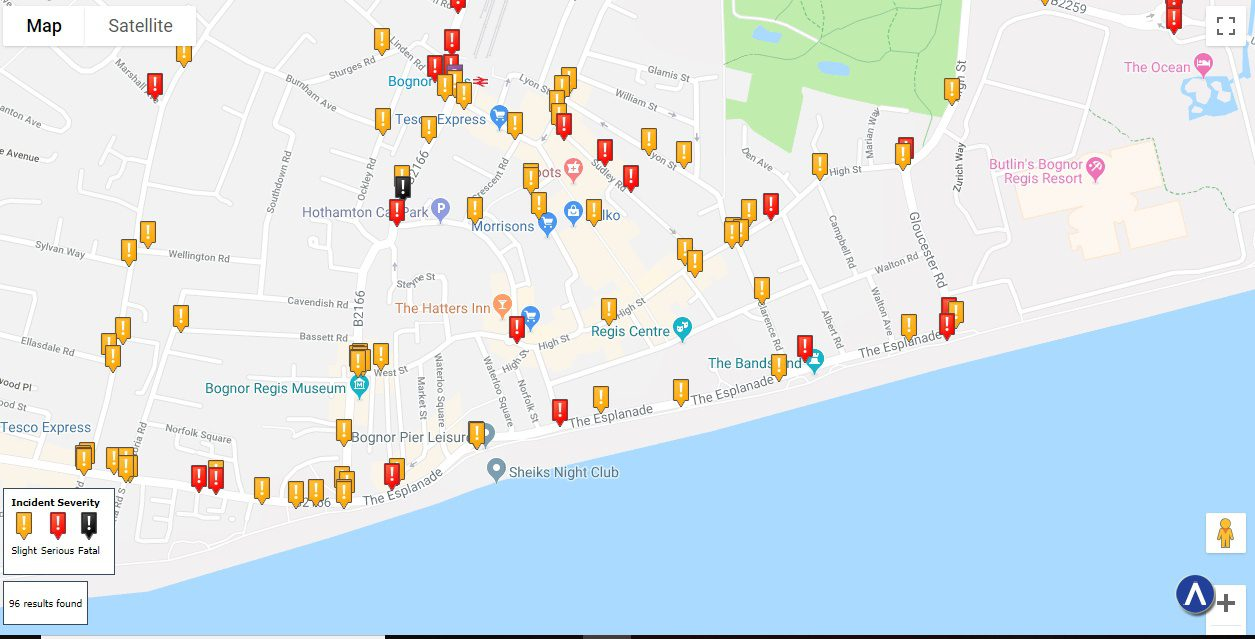 Bognor Regis Car Accident Statistics
