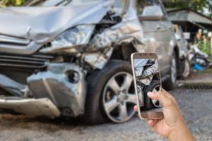 wypadku samochodowym jako pasażer