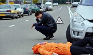 Pedestrian hit at-jubction