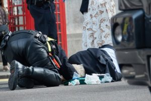 Pedestrian hit by-moped