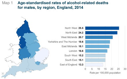 Alcohol related deaths statistics