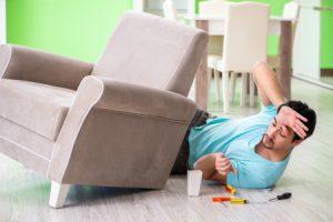 Broken furniture injury claim